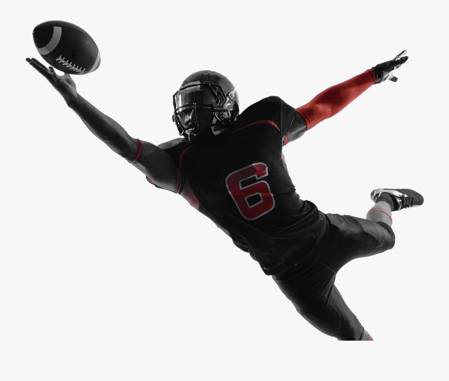 Football Player Catching A Football Nfl, Transparent Clipart