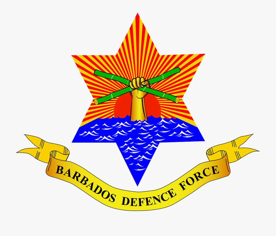 The Barbados Defence Force - Barbados Defence Force Logo, Transparent Clipart