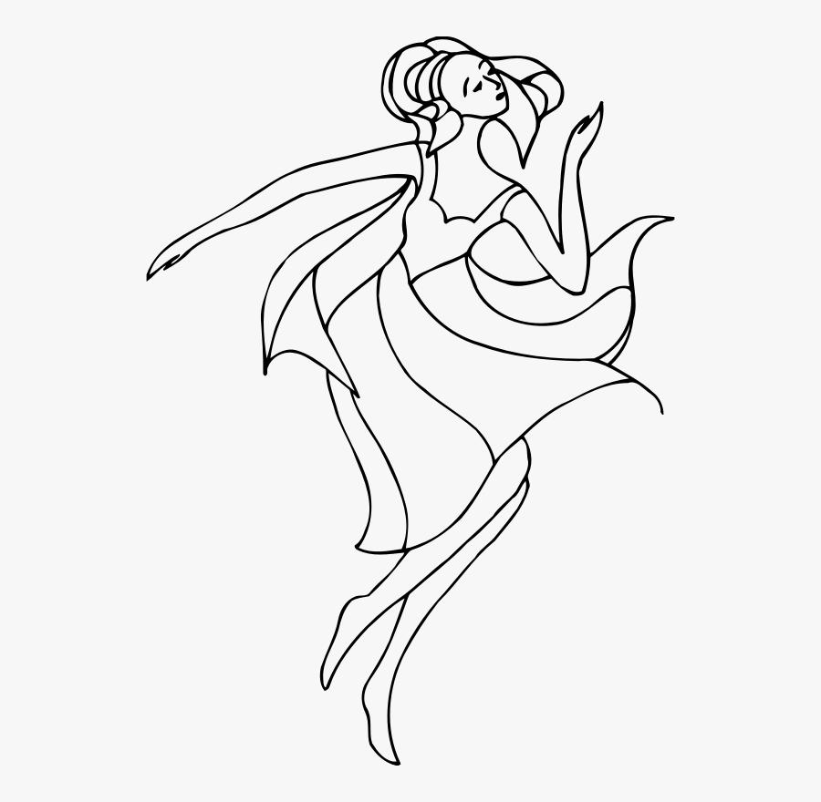 Dancer Art Line Drawing, Transparent Clipart