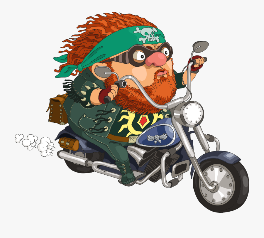 Motorcycle Clipart Thanksgiving - Funny Motorcycle Biker ...