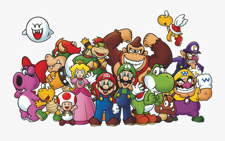 Super Mario All Characters Free Transparent Clipart