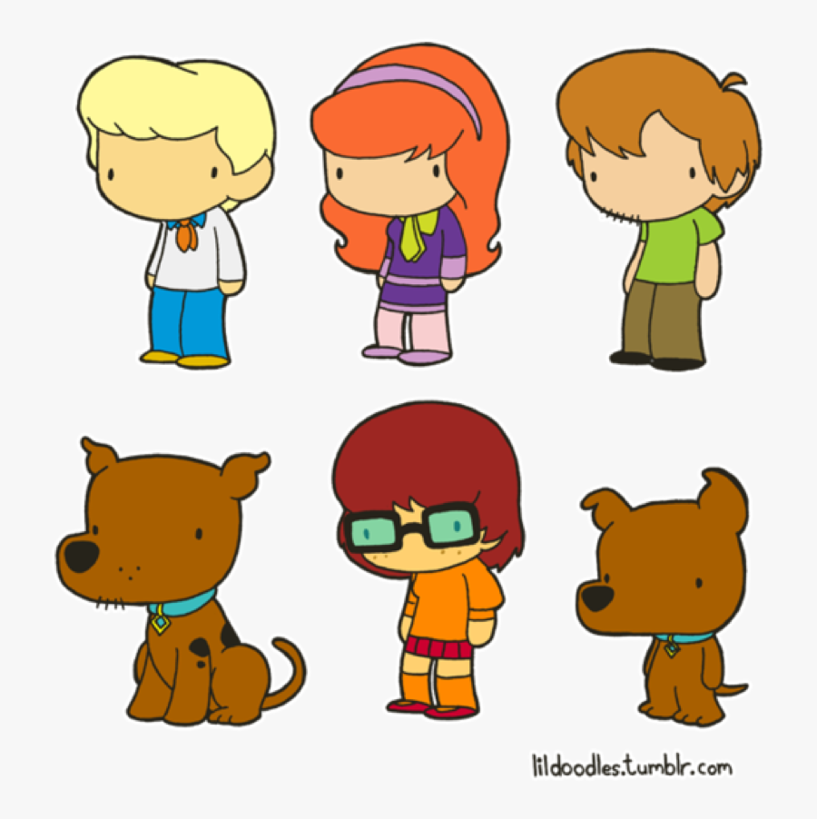Little Gang Pinned From - Cartoon Scooby Doo Drawing, Transparent Clipart