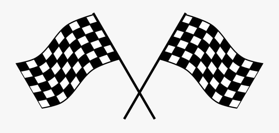 Blackandwhite,line,games - Race Car Flag Png, Transparent Clipart