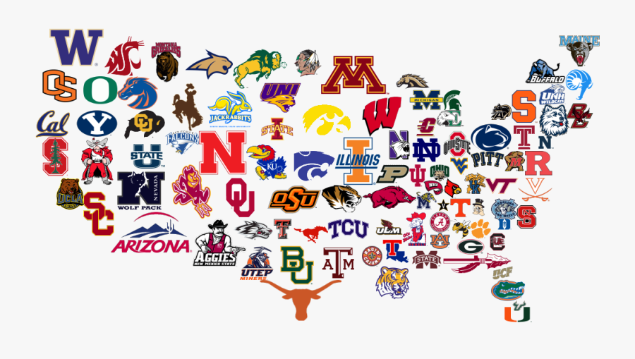 College Football Teams Logos Clipart College Football - College Football Time, Transparent Clipart