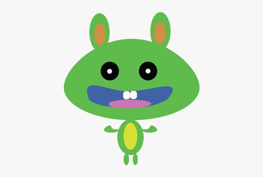 Green Bunny - Cartoon, Transparent Clipart