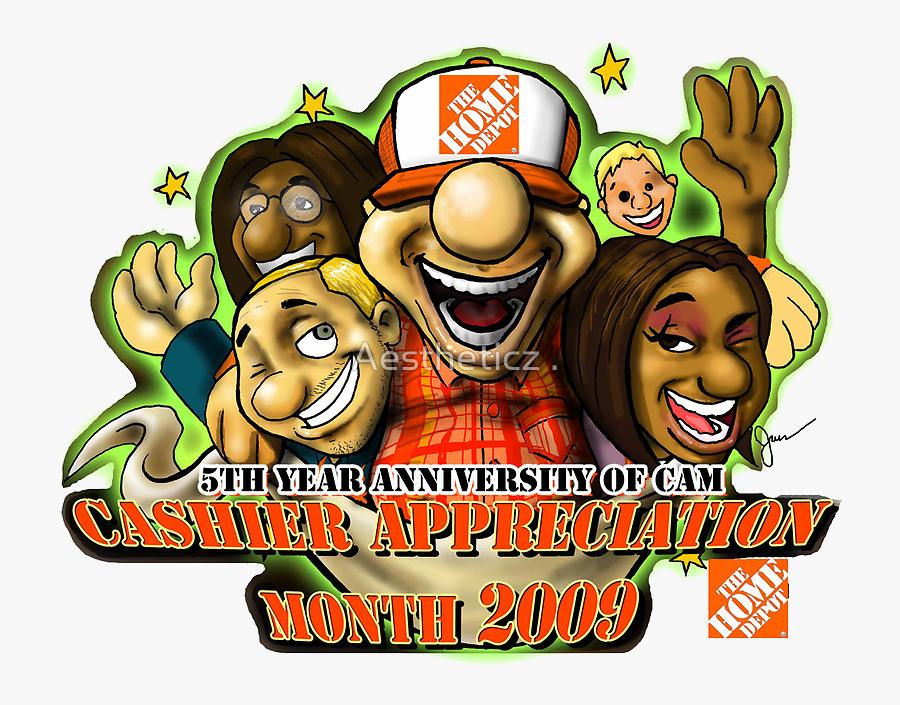 Cashier Appreciation - Home Depot Cashier Appreciation Month 2017, Transparent Clipart