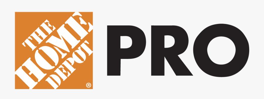 Transparent Home Depot Logo Png - Home Depot Pro Vector Logo, Transparent Clipart