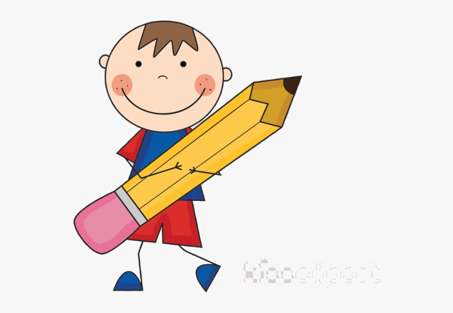Pencil And Paper Boy With Clipart Clip Art Informative - Addition Word Problems Clipart, Transparent Clipart