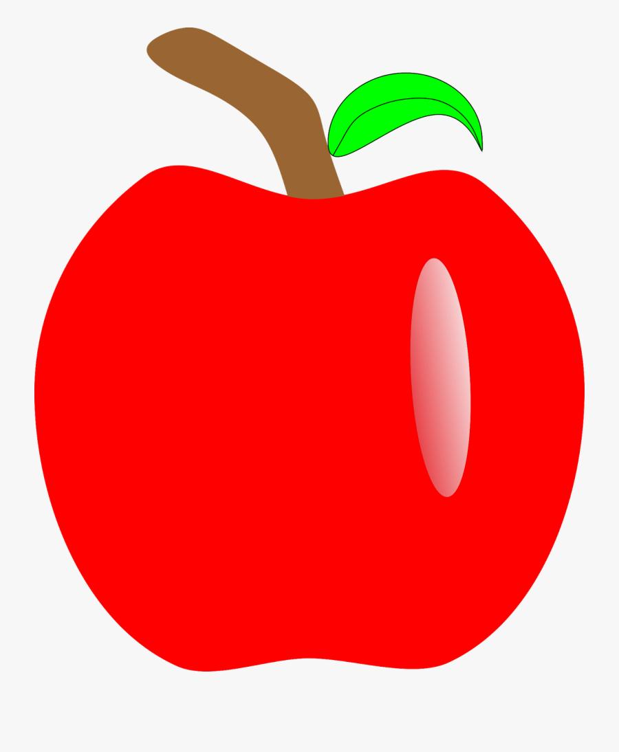 Apple Snow White Seven Dwarfs Clip Art - Apple Transparent Fruit Gif, Transparent Clipart