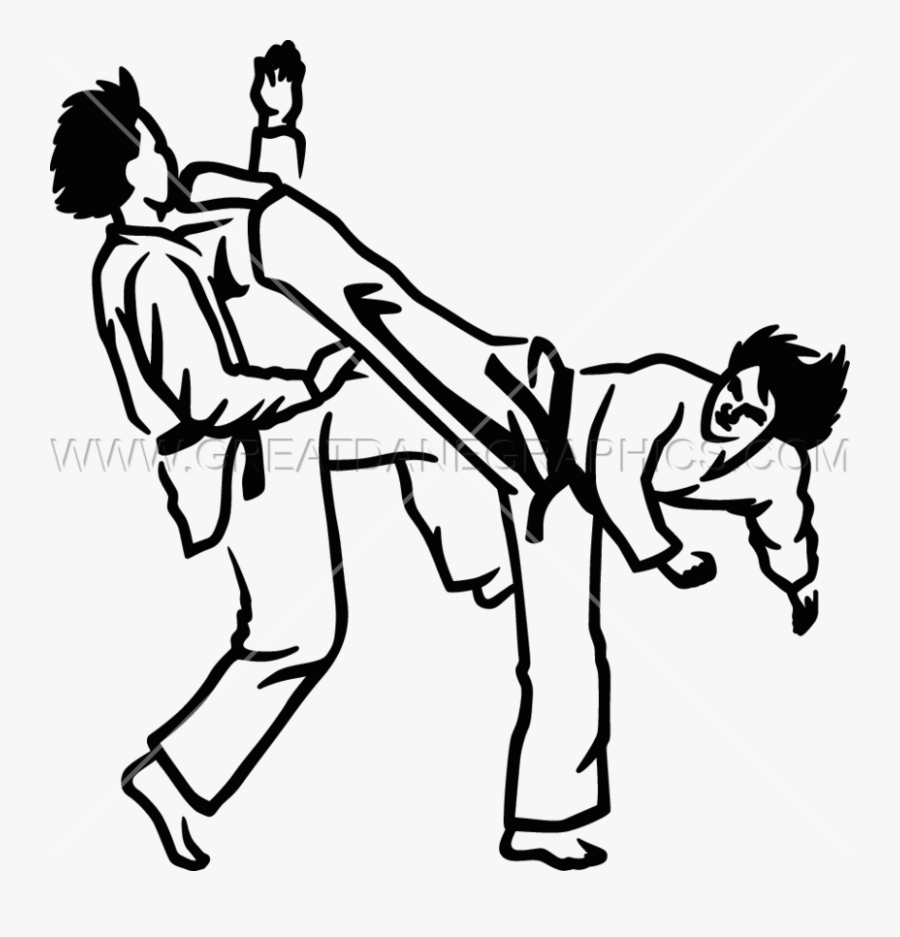 Taekwondo Drawing At Getdrawings Tae Kwon Do Black And White Free Transparent Clipart Clipartkey