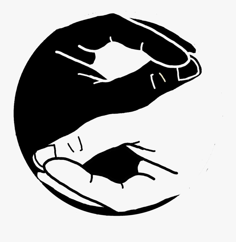 Yin Yang Hand Tattoo, Transparent Clipart