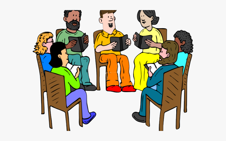 Student Studying Clipart - Reading As A Group, Transparent Clipart
