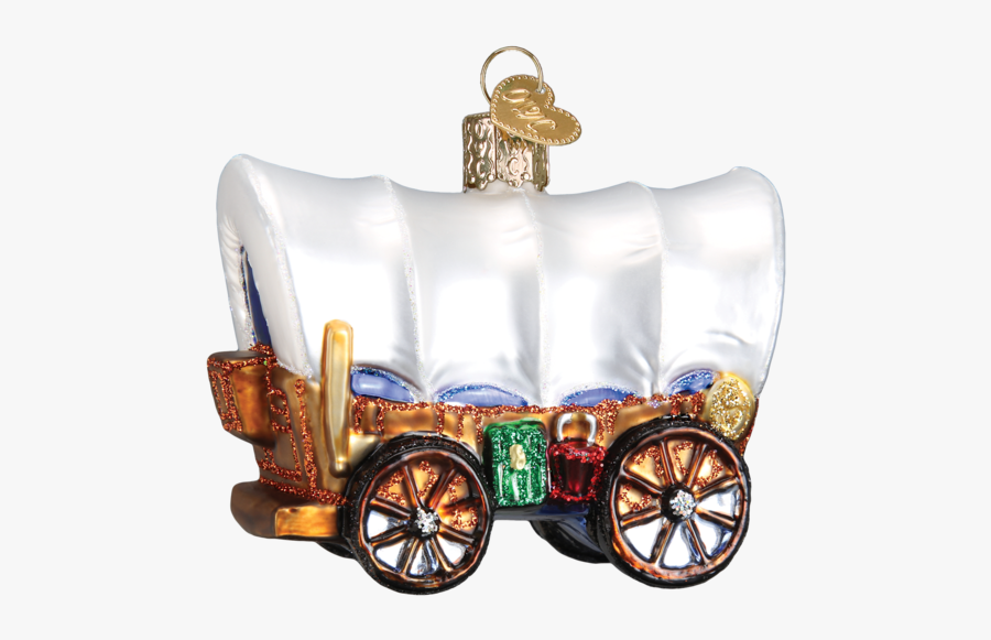 Clip Art Pictures Of Coverd Wagons - Old World Christmas, Transparent Clipart