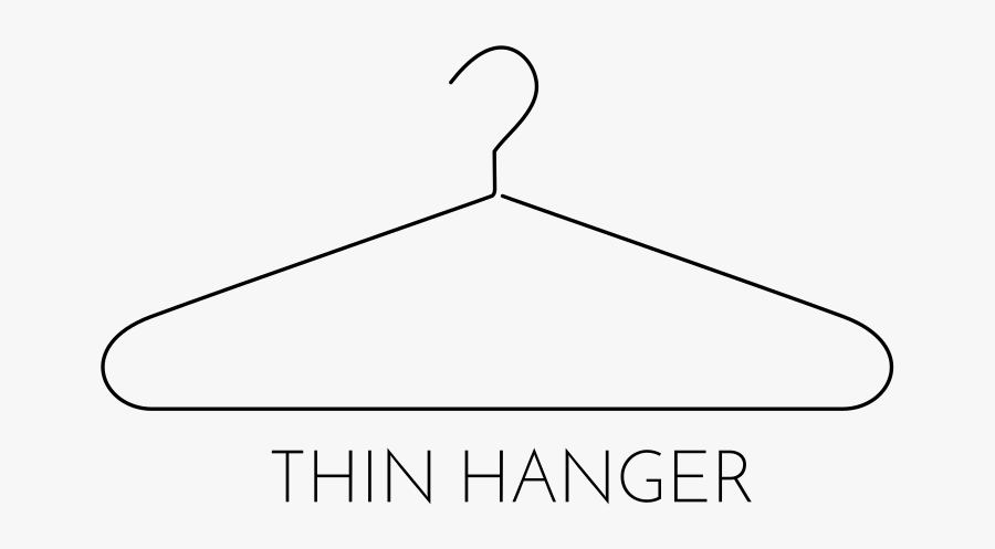 Thin Clothing Hanger Png, Transparent Clipart