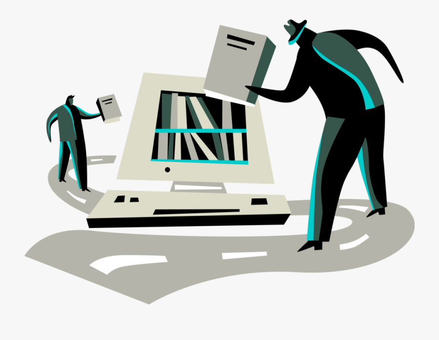 Vector Illustration Of Corporate Information Technology - Illustration, Transparent Clipart