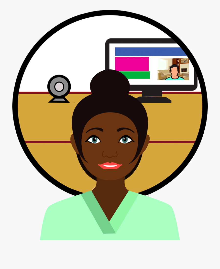 Telemedicine / Video Consultation - Circle, Transparent Clipart