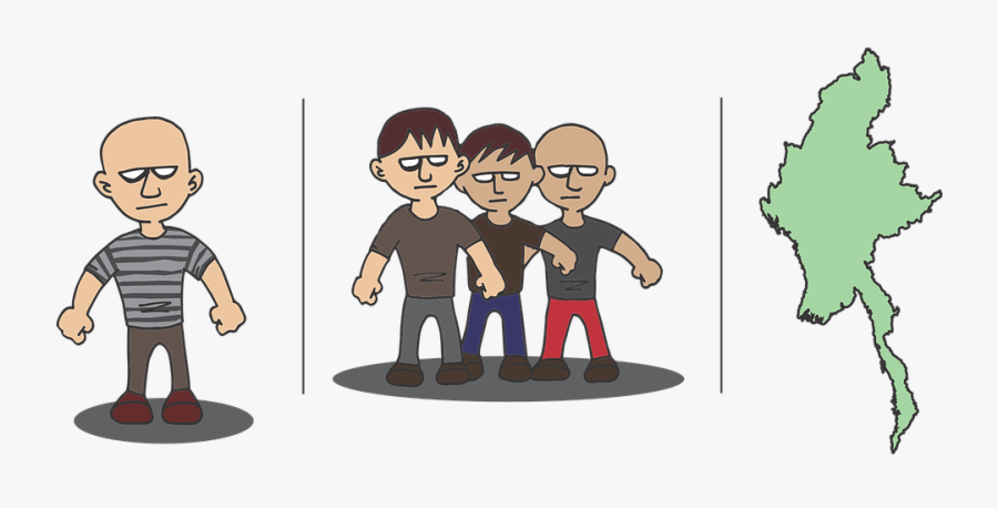 Man, Men, Bad, Bald, Male, Young, People - Male Bad Guy Cartoon, Transparent Clipart