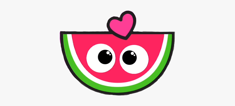 #summer #watermelon #pink #cute #fruit #cutegirl #girly, Transparent Clipart