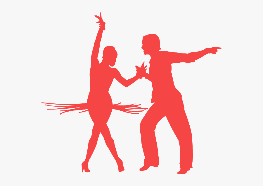 Salsa Dancing Silhouette Red Free Transparent Clipart Clipartkey