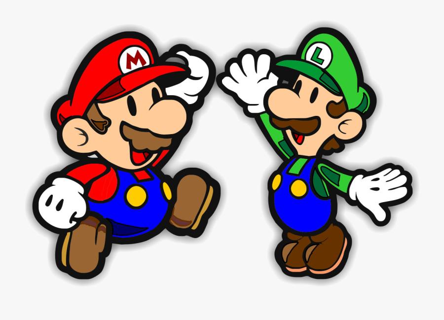 Mario Free Bros Cliparts Clip Art On Transparent Png - Super Paper Mario, Transparent Clipart