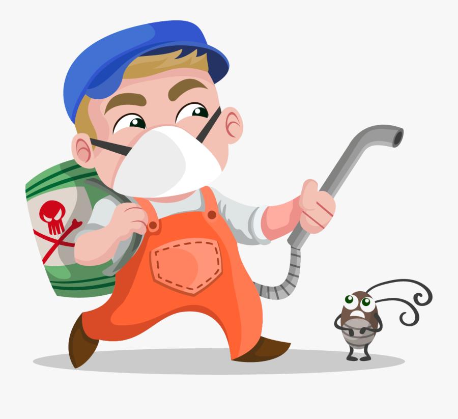 Exterminator Desktop Backgrounds Ourclipart - Pest Controlling Clip Art, Transparent Clipart