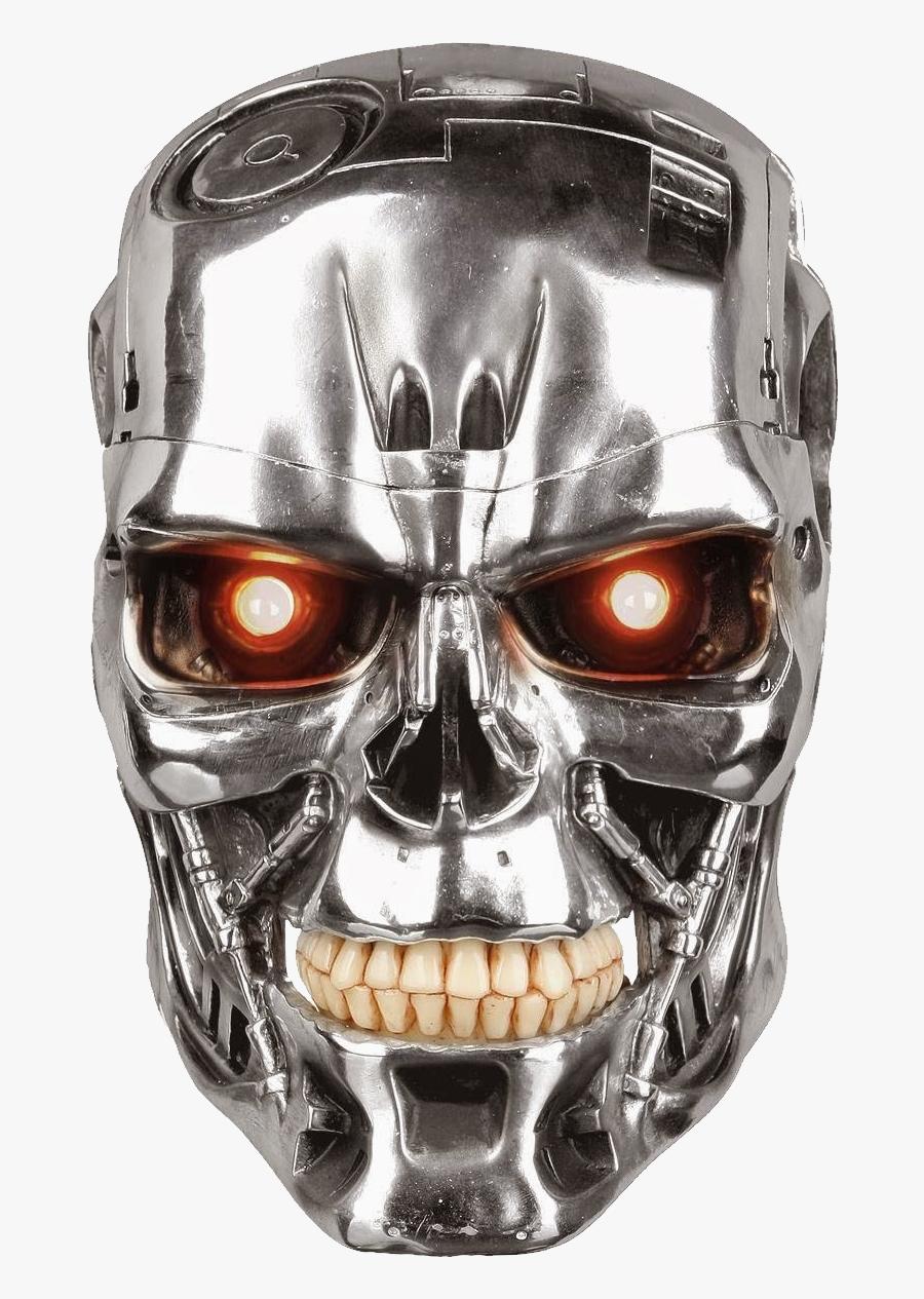 Download - Terminator Clipart - Terminator Head, Transparent Clipart
