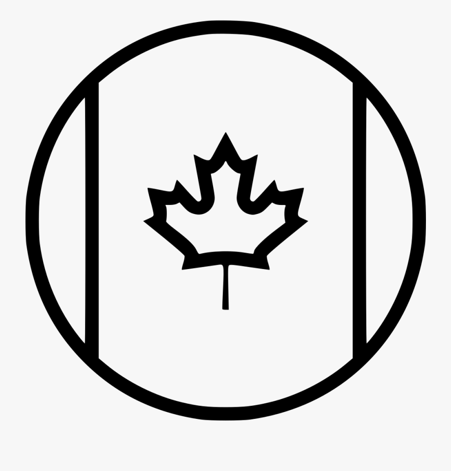 Country Flag Canada Comments - Canada Icon Black And White, Transparent Clipart