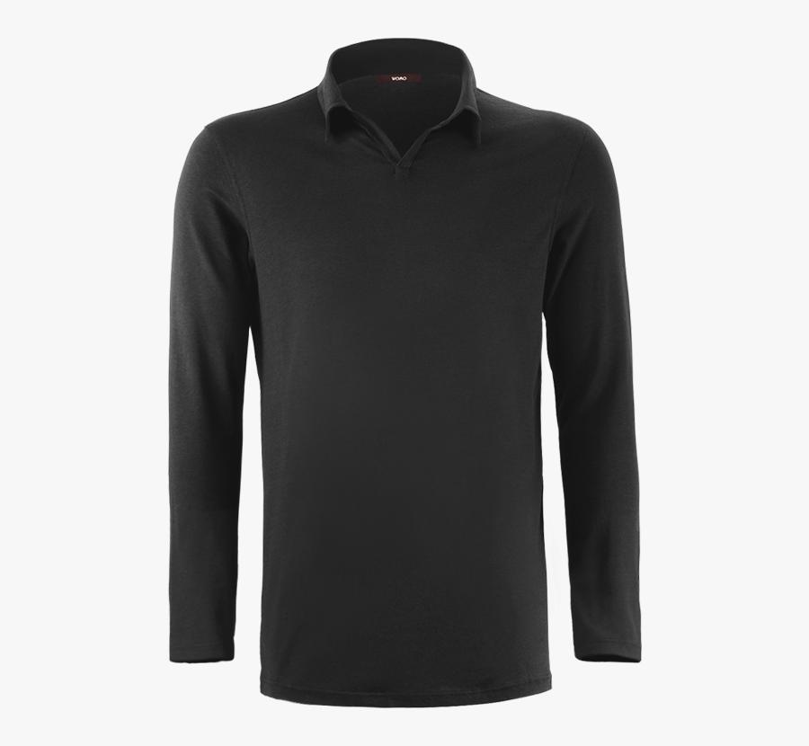 Black Polo Shirt Transparent Free Png - Long-sleeved T-shirt, Transparent Clipart
