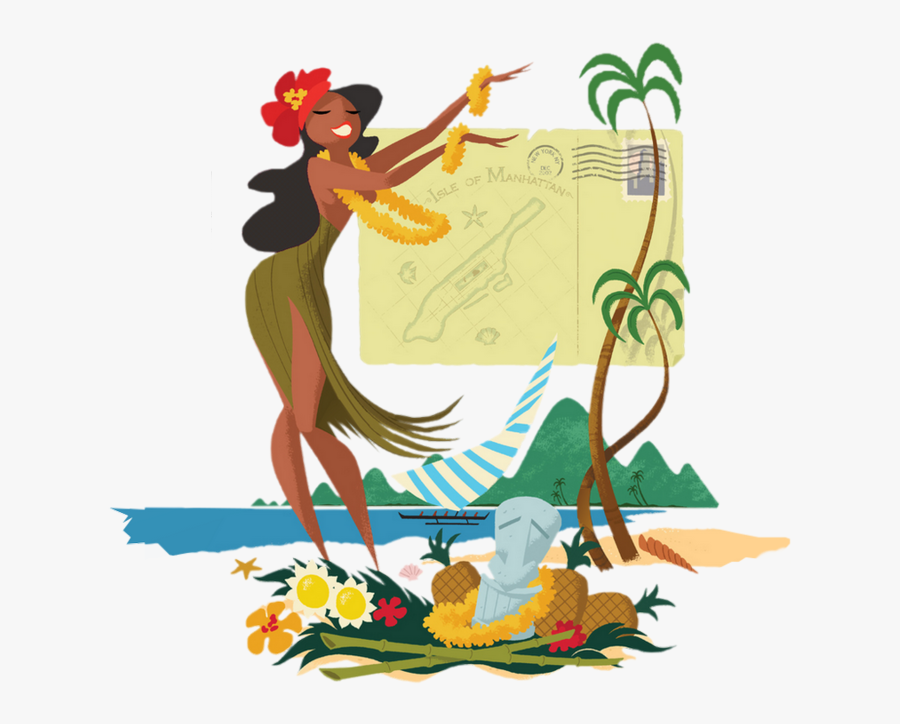 Tropical Hula Dance Hawaii Hula Dancer Illust Free Transparent Clipart Clipartkey