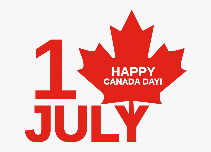 Clip Art Happy Canada Day Images - Happy Canada Day July 1, Transparent Clipart