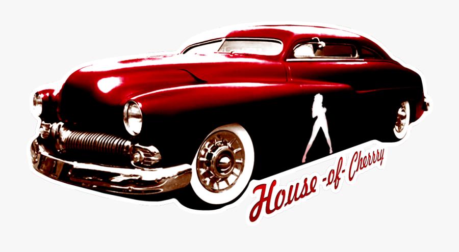 Pinup Hotrod Cerasus Design - Antique Car, Transparent Clipart