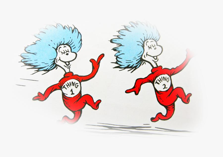 Dr Seuss Twin Characters, Transparent Clipart