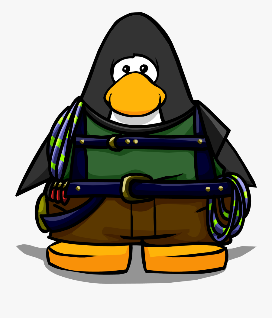 Mountain Climber Png - Club Penguin Maroon Penguin, Transparent Clipart