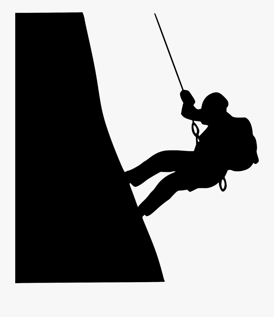 Gambar Pendaki Gunung Hitam Putih, Transparent Clipart