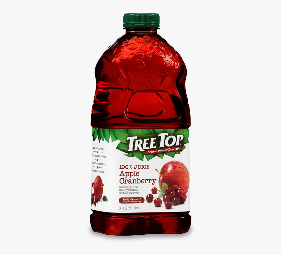 Apple Cranberry Juice 64oz - Tree Top Cranberry Juice, Transparent Clipart