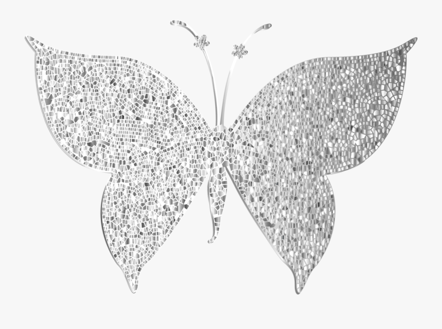 Butterfly,visual Arts,leaf - Silver Butterfly Vector Png, Transparent Clipart