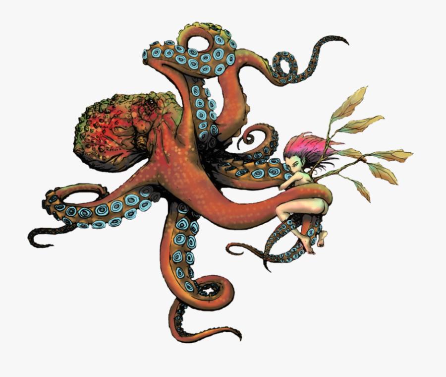 Old School Octopus Tattoo Download - Octopus Old School Tattoo, Transparent Clipart
