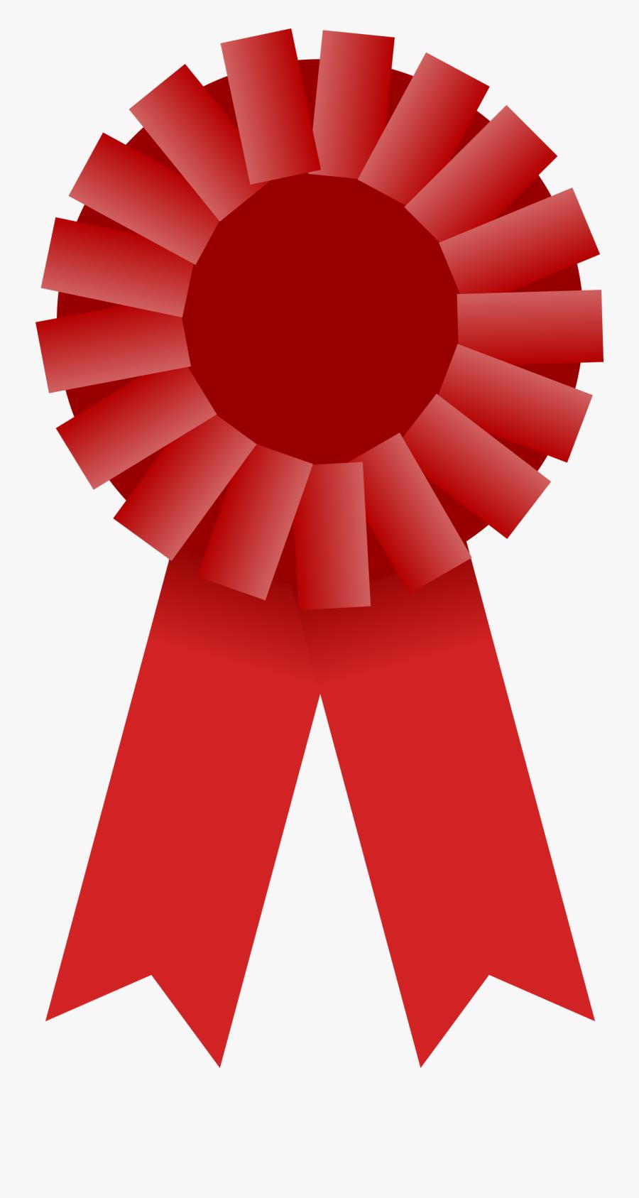 Clip Art Prize Ribbon - Award Ribbon Clipart Red, Transparent Clipart
