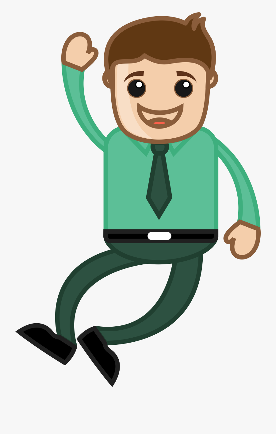 Cartoon Sadness Royalty Free Clip Art Royaltyfree - Happy Man Cartoon, Transparent Clipart