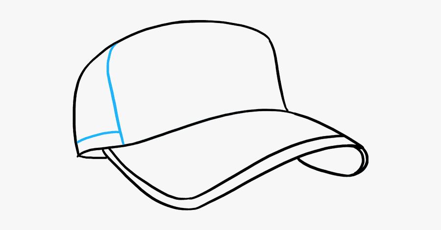 How To Draw A Baseball Cap - Drawing Baseball Cap, Transparent Clipart