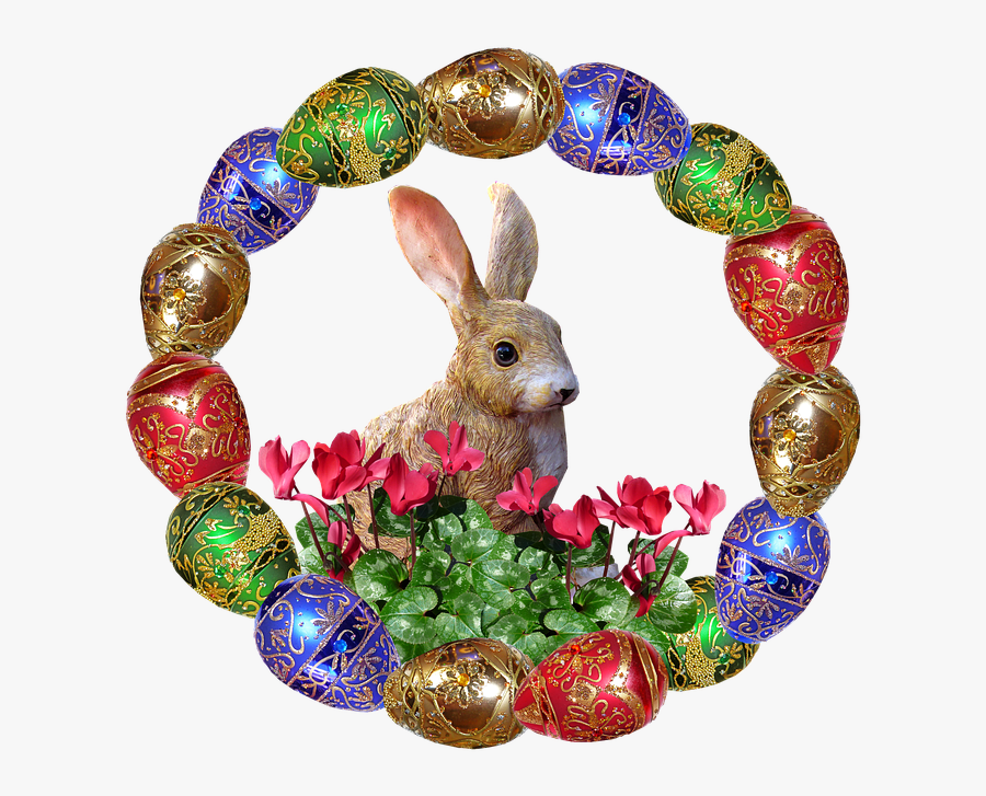 Transparent Easter Eggs In Grass Png - Easter Egg Bunny Rabbit, Transparent Clipart