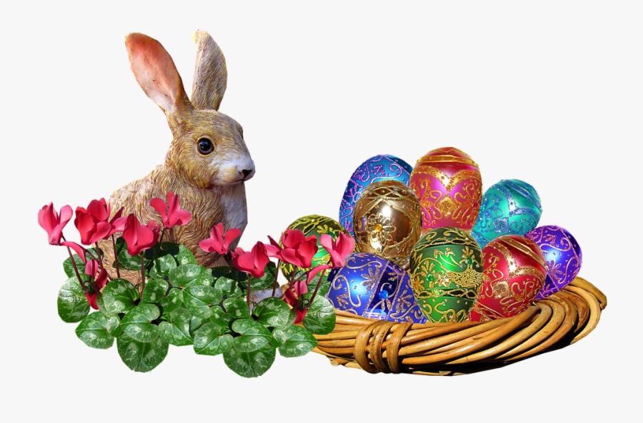 Easter, Bunny, Eggs, Basket, Rabbit - Easter Egg Bunny Rabbit, Transparent Clipart