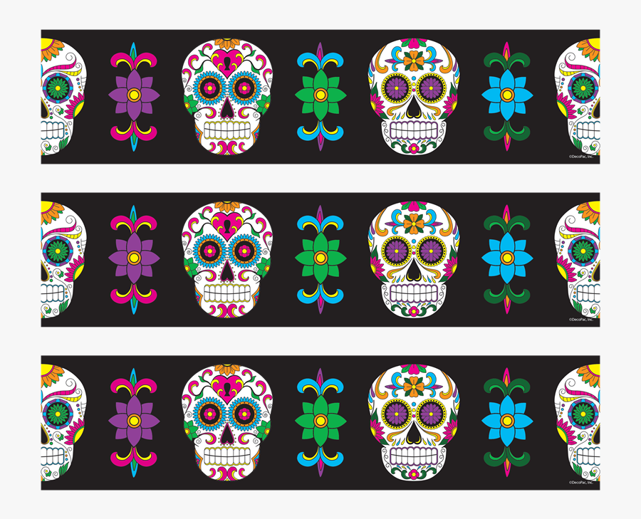 Photocake Edible Cake Banding - Day Of The Dead Borders, Transparent Clipart