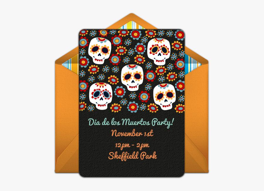 Día De Muertos Background, Transparent Clipart