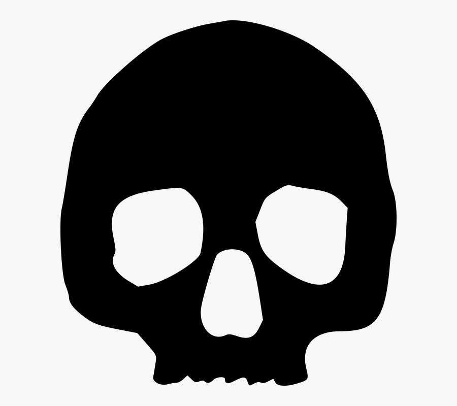 Skull, Death, Skeleton, The Head Of The - Simple Skull Clip Art, Transparent Clipart