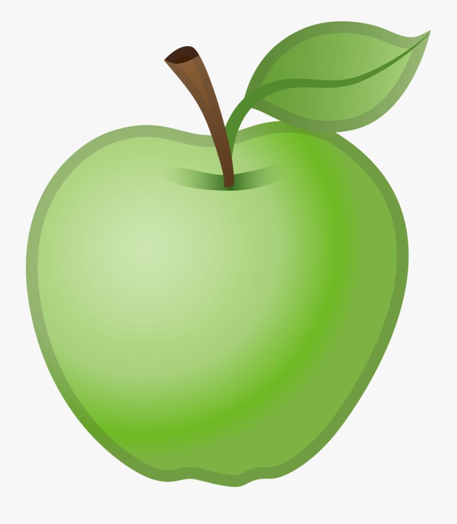 Granny-smith - Iphone Green Apple Emoji, Transparent Clipart
