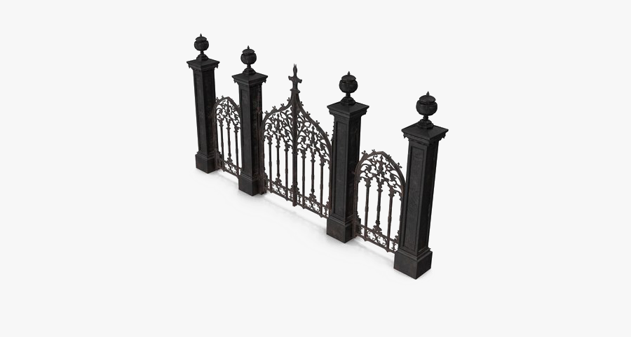 Cemetery Gates Png Free Download - Cemetery Gate Vector Png, Transparent Clipart