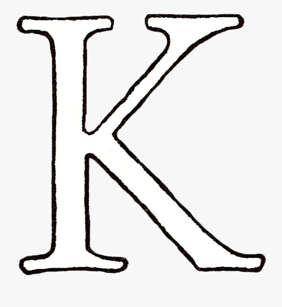 Transparent K Block Letter - Letter K Transparent Background, Transparent Clipart