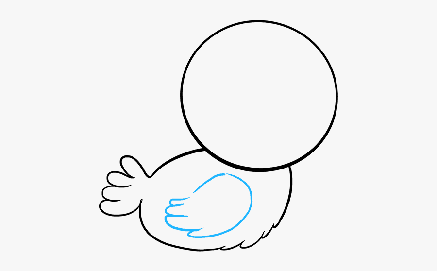 How To Draw Baby Bird - Baby Bird Drawing, Transparent Clipart