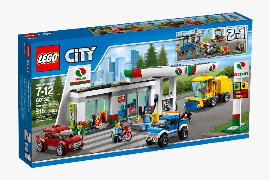 Clip Art Lego City Service Station - Lego City Cargo Terminal, Transparent Clipart
